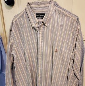 Polo blue and pink stripe long sleeve